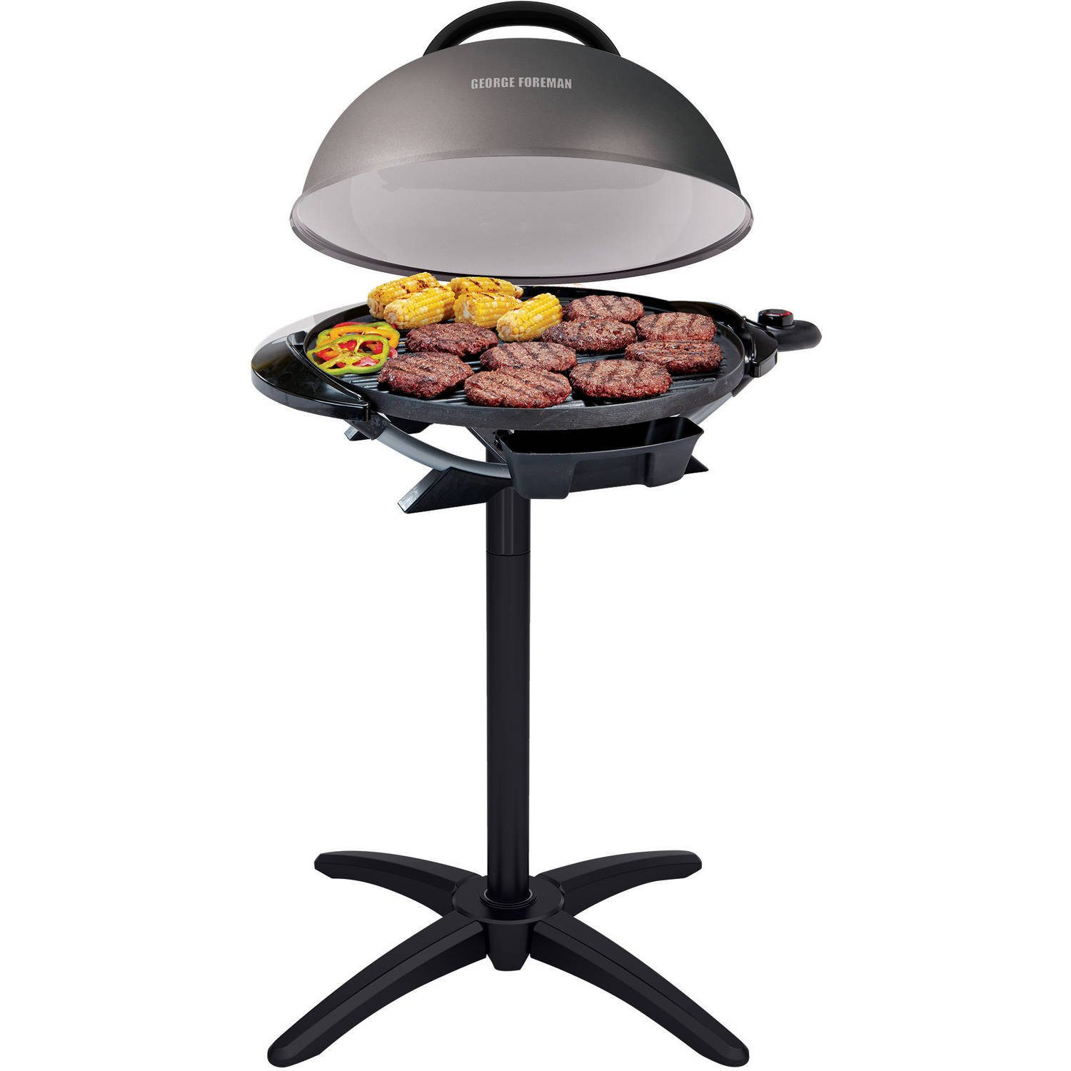 George Foreman 240'' Nonstick Removable Stand Indoor/Outdoor Electric Grill by George Foreman
