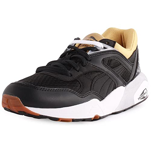 ffa987e8734 Puma Trinomic R698 Sport Womens Synthetic Trainers Black White - 7 UK   Amazon.co.uk  Shoes   Bags
