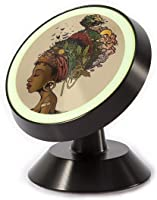 Abstract African Woman Headdress Universal Smartphone Car Mount Holder Cradle for iPhone Xs Max R X 8 Plus 7 Plus 6S...
