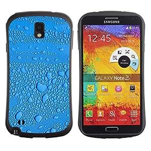 """Hypernova Slim Fit Dual Barniz Protector Caso Case Funda Para Samsung Note 3 [Gota de lluvia Gotita de agua""""]"""