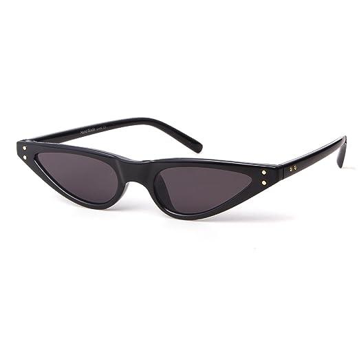 850735533fa Amazon.com  Cat Eye Sunglasses For Women Vintage Retro Small Plastic ...