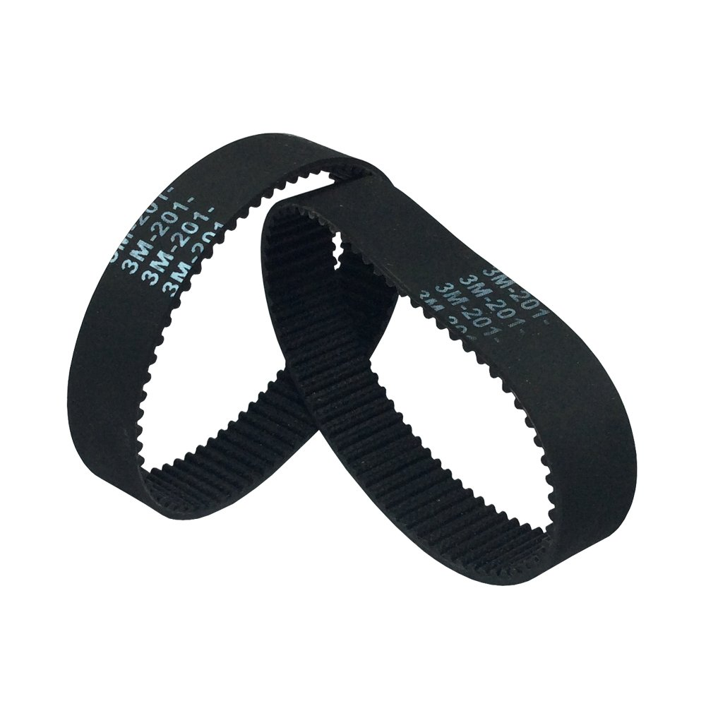 BEMONOC 2Pcs//Pack Small Electric Car Accessories Belt HTD 5M Rubber Timing Belts HTD535-5M-15 Mini Skateboard Thickening Motor Small Synchronous Belt 535mm Length 15mm Width