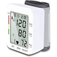 Wrist Blood Pressure Monitor Hong S 120 Reading Memory Automatic Cuff Digital Health Monitor with Voice