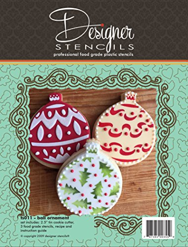 Ball Ornament Cookie Cutter And Stencil Set by Designer Stencils