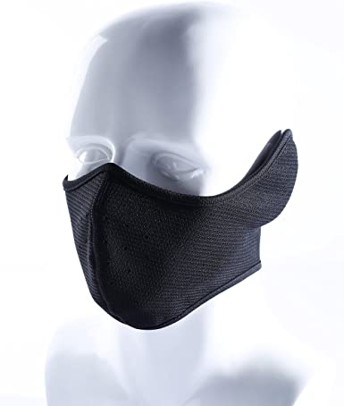 ROCKBROS Half Balaclava Half Face Mask for Outdoor Sports Bike Motorcycle Snowboard Ski Cycling Men Women Breathable