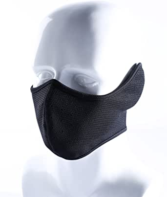 Your Choice Earflap Half Face Mask Cycling Motorcycle Outdoor Half Balaclava Color Black