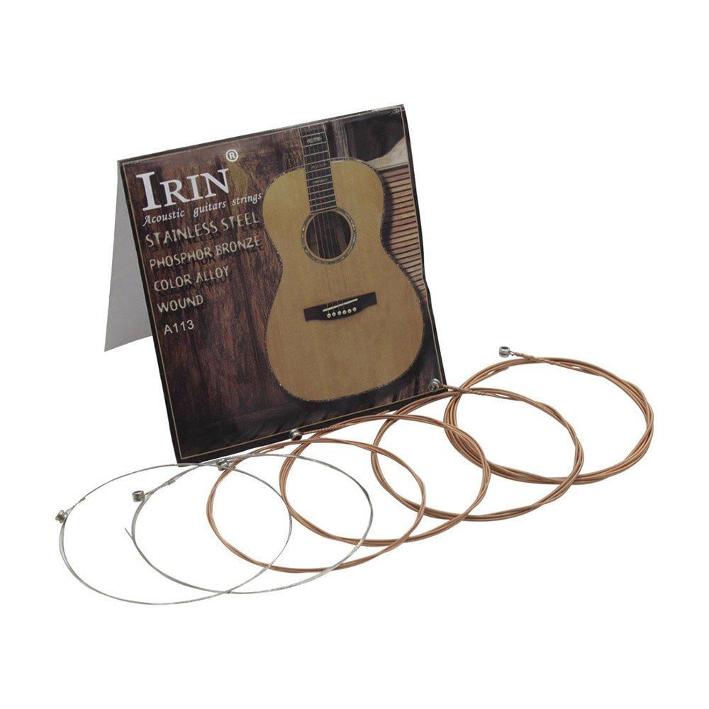 6pcs//pack .010-.047 Muslady Cordes de guitare folk acoustique en acier inoxydable alliage de cuivre noyau de cuivre