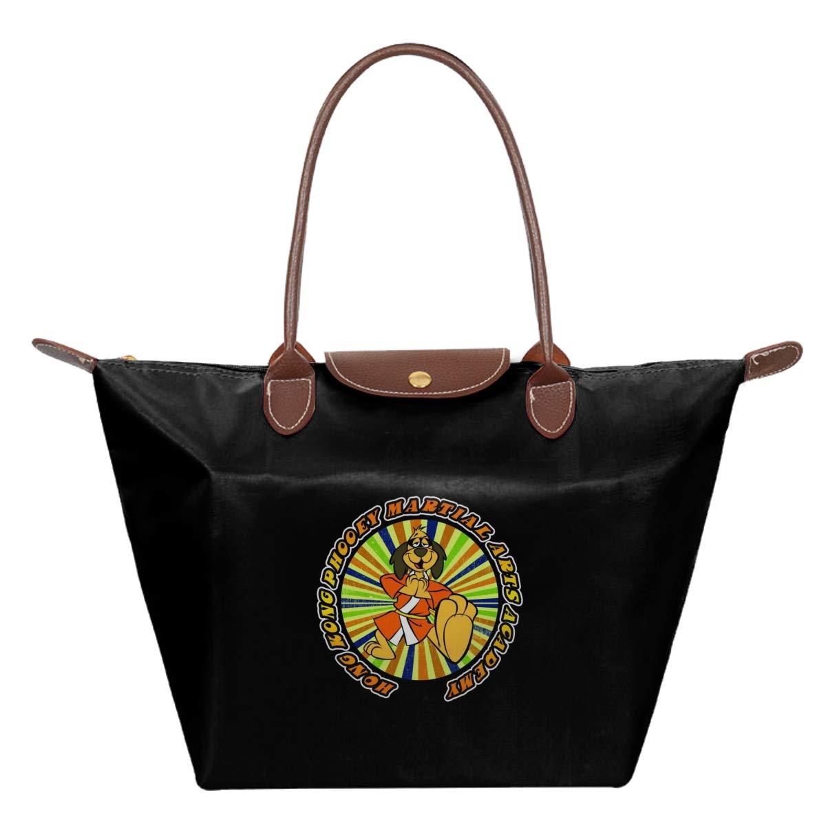 Hong Kong Phooey Martial Arts Training Academy Waterproof Leather Folded Messenger Nylon Bag Travel Tote Hopping Folding School Handbags
