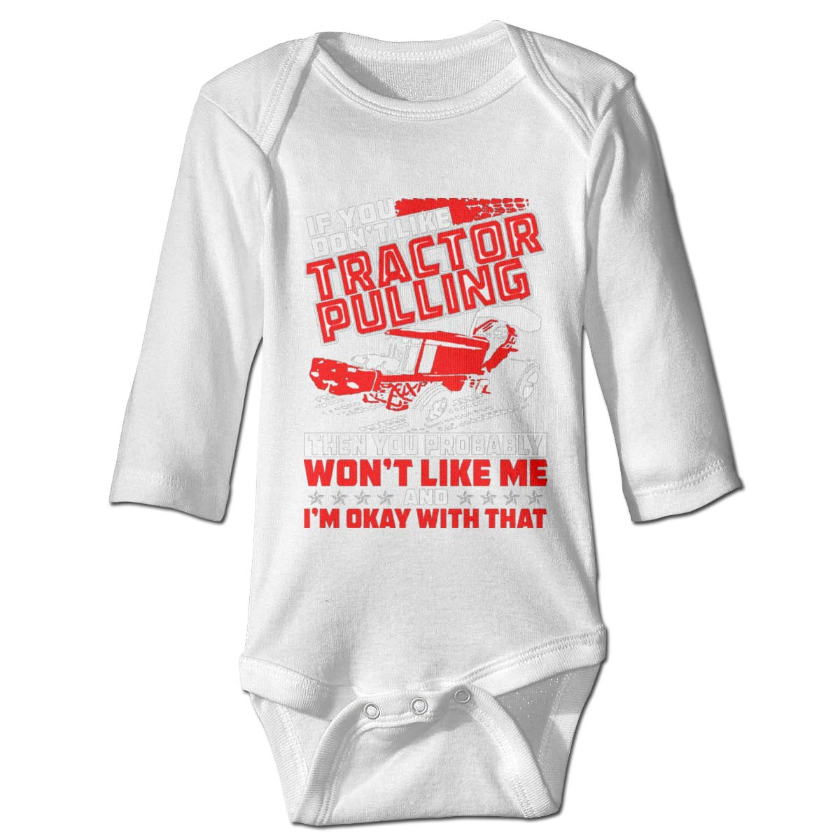 Jmgbsd Babys If You Dont Like Tractor Pulling Then Probably Won Triangle Body Suit Gray