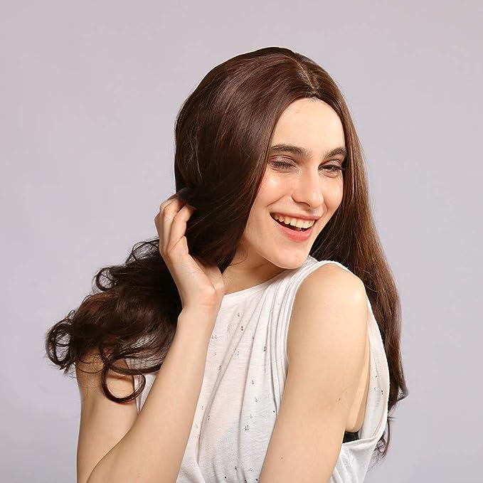 Pelucas largas rizadas para disfraz, para mujer, color marrón ...