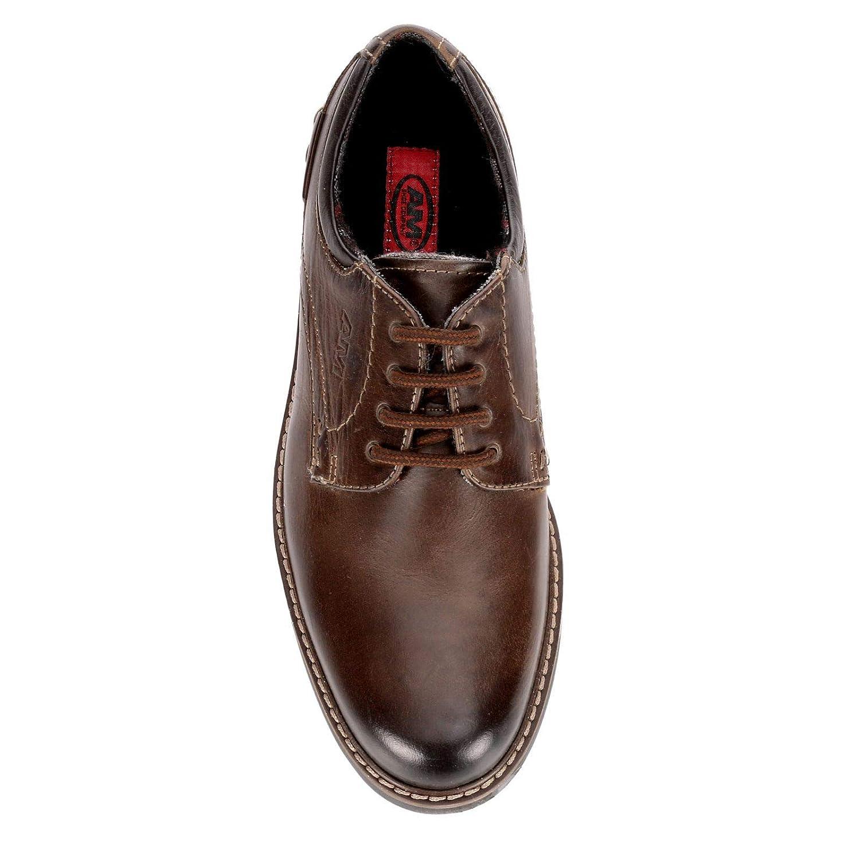 AM Shoes Mens Leather Lace Up Oxford Dress Shoes