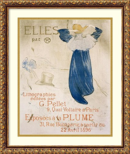 Framed Art Print 'Elles (I)' by Henri de Toulouse-Lautrec ()