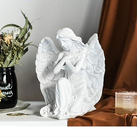LKXZYX Boda Decoracion Figuras de Grandes Salon candelabros Jardin Exterior,Ángel niña Escultura ángel Rezando Enmarcado hogar Sala de Estar decoración: Amazon.es: Hogar