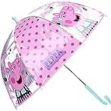 Paraguas Cúpula Transparente Manual Paraguas Niña Infantil Paraguas Peppa Pig 60cm