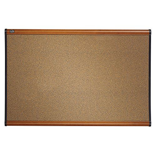 Quartet Prestige Colored Cork Bulletin Board, 3 x 2 Feet, Light Cherry Finish Frame, One Board per Order (B243LC)