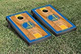 Golden State Warriors NBA Basketball Regulation Cornhole Game Set Basketball Court Version