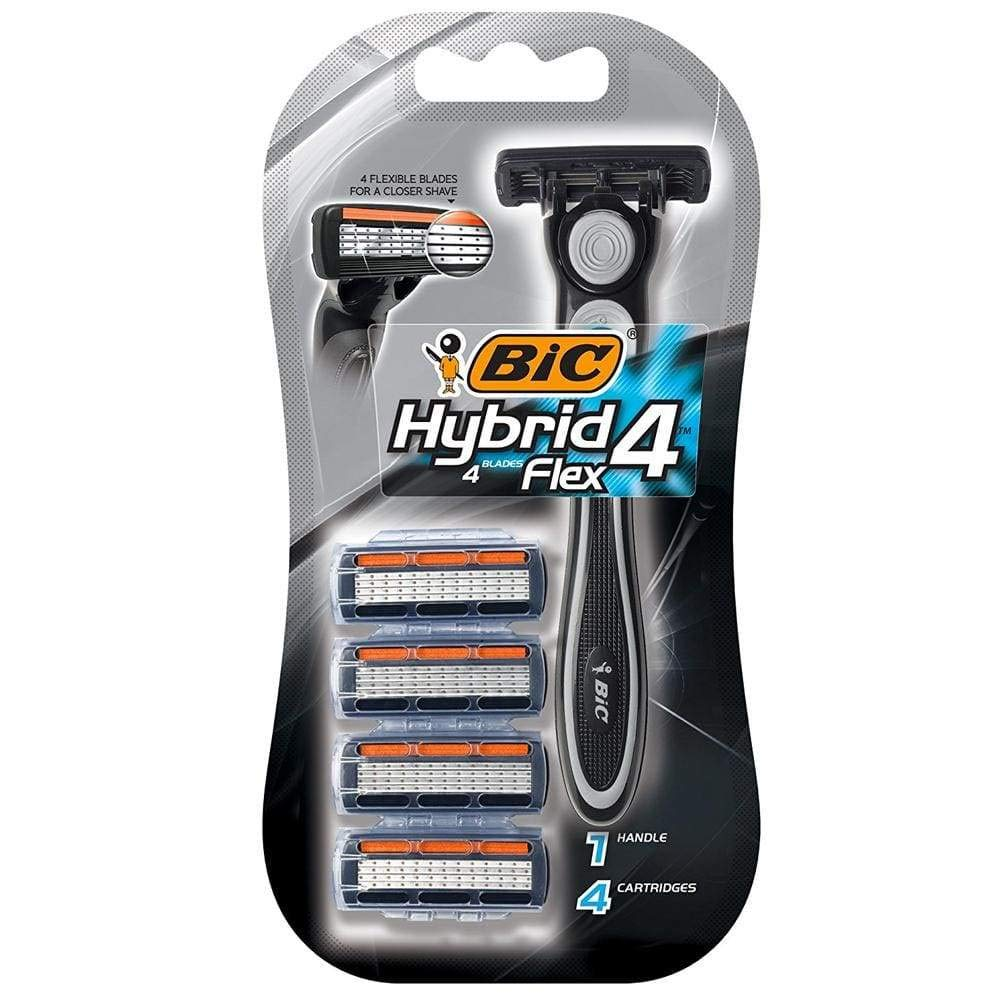 Bic Hybrid 4 Advance For Men, Disposable 4-Blade System 1 ea (Pack of 6)
