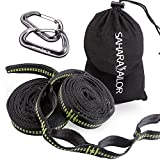 Sahara Sailor Hammock Tree Straps W Heavy Duty Carabiners Easy Setup Super Strength Fits All Hammocks (Set of 2)