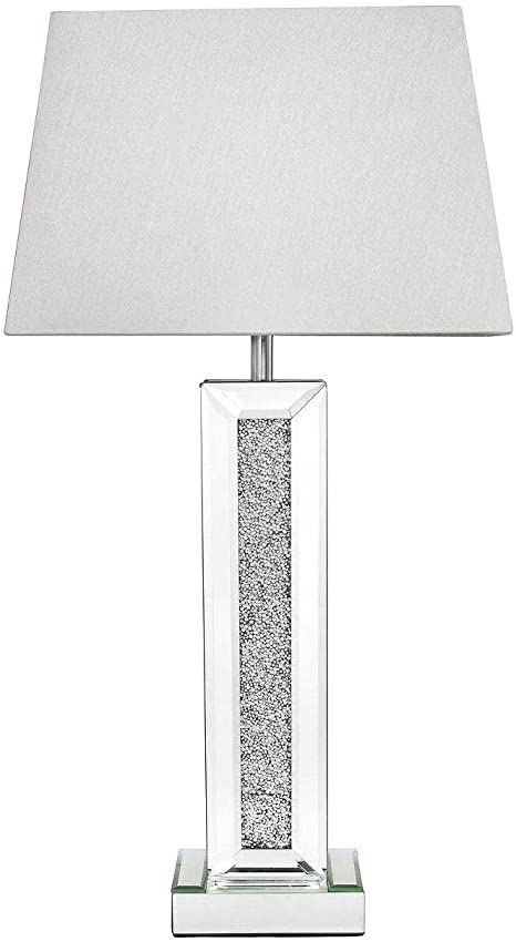 Crushed Glass Mirror MILANO Pillar Lamp