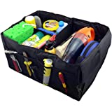 SHAFIRE Collapsible Car Boot Organizer Car Trunk Tidy Bag, Collapsible Storage Box, Fold-able Multi-use Tools (Black)