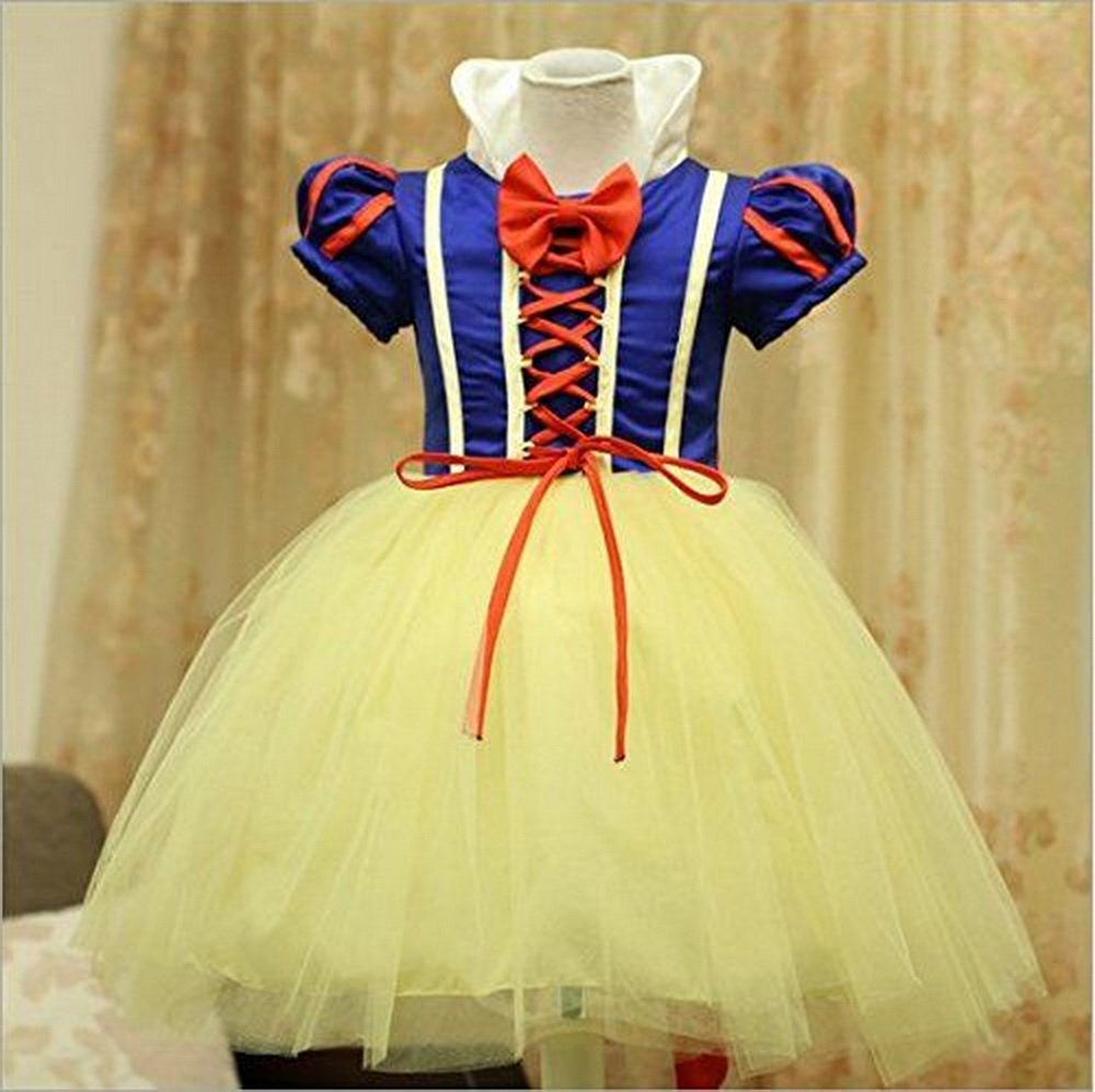 Disfraz de blancanieves para niña, Carnaval, Halloween, vestido de fiesta, traje de Cosplay: Amazon.es: Juguetes y juegos