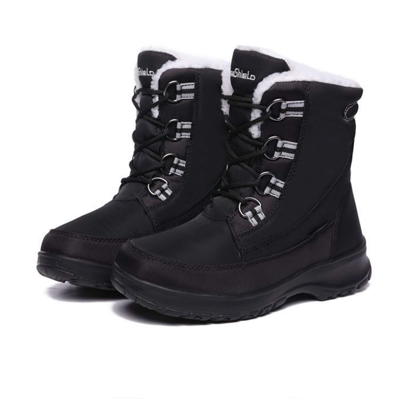 CJJC Einfache Reine Farbe Winter Schnee Stiefel Stiefel Stiefel Für Frauen Verdicken Warme Medium Block Im Freien Wasserdichte Anti-Slip Schuhe Für Damen Mädchen Täglichen Gebrauch 32a7ea