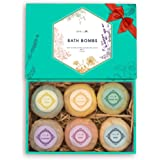 Aprilis Bath Bombs Gift Set, Organic & Natural Essential Oil Bath Bombs for Dry Skin Moisturizing, Handmade Fizzy Spa Bath Se