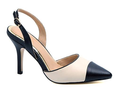 e217788867d1b MaxMuxun Women Shoes Slingback Kitten Heels Dress Party Pump