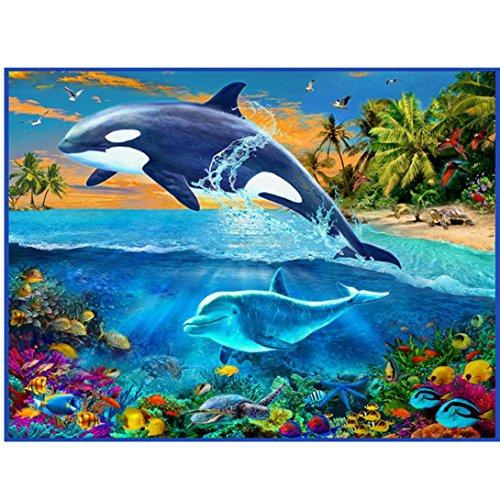 Hot Sale!!Cross Stitch Home Decor Painting - 5D Animal Diamond Rhinestone Pasted Embroidery (L:25×30cm) ()