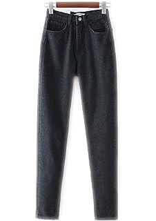 Femmes taille haute Denim Jeans Vintage Style Jeans Slim Maman Crayon Pantalon  Denim pour la saison f155e6fa2fd8