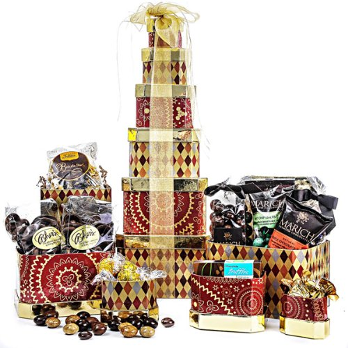 The Godiva Ghirardelli Lidnt Chocolate Gift Tower (gb)