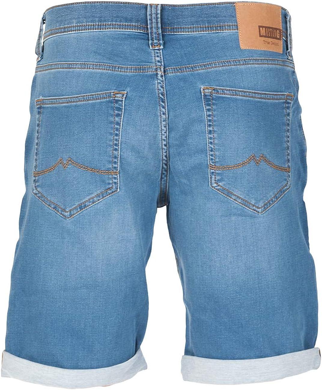 w42 MUSTANG Herren Jeans Shorts Chicago Real X Kurze Hose Sommer Bermuda Stretch Sweathose Baumwolle Grau Blau w30
