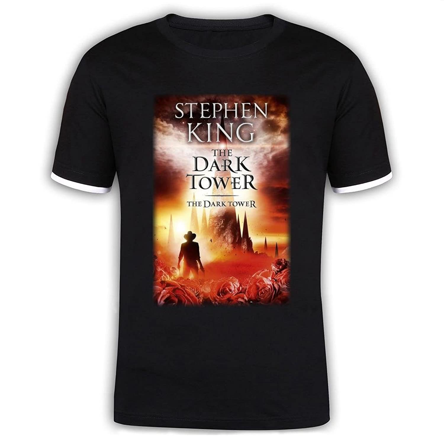 Jidig Man The Dark Tower Movie Rose Poster Mercerized Cotton T Shirts