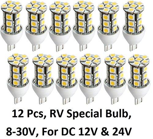 Gold Stars 92111803 LED Replacement Light Bulb 921/T15 Wedge base 190 Lumens 12v or 24v Natural White (12)