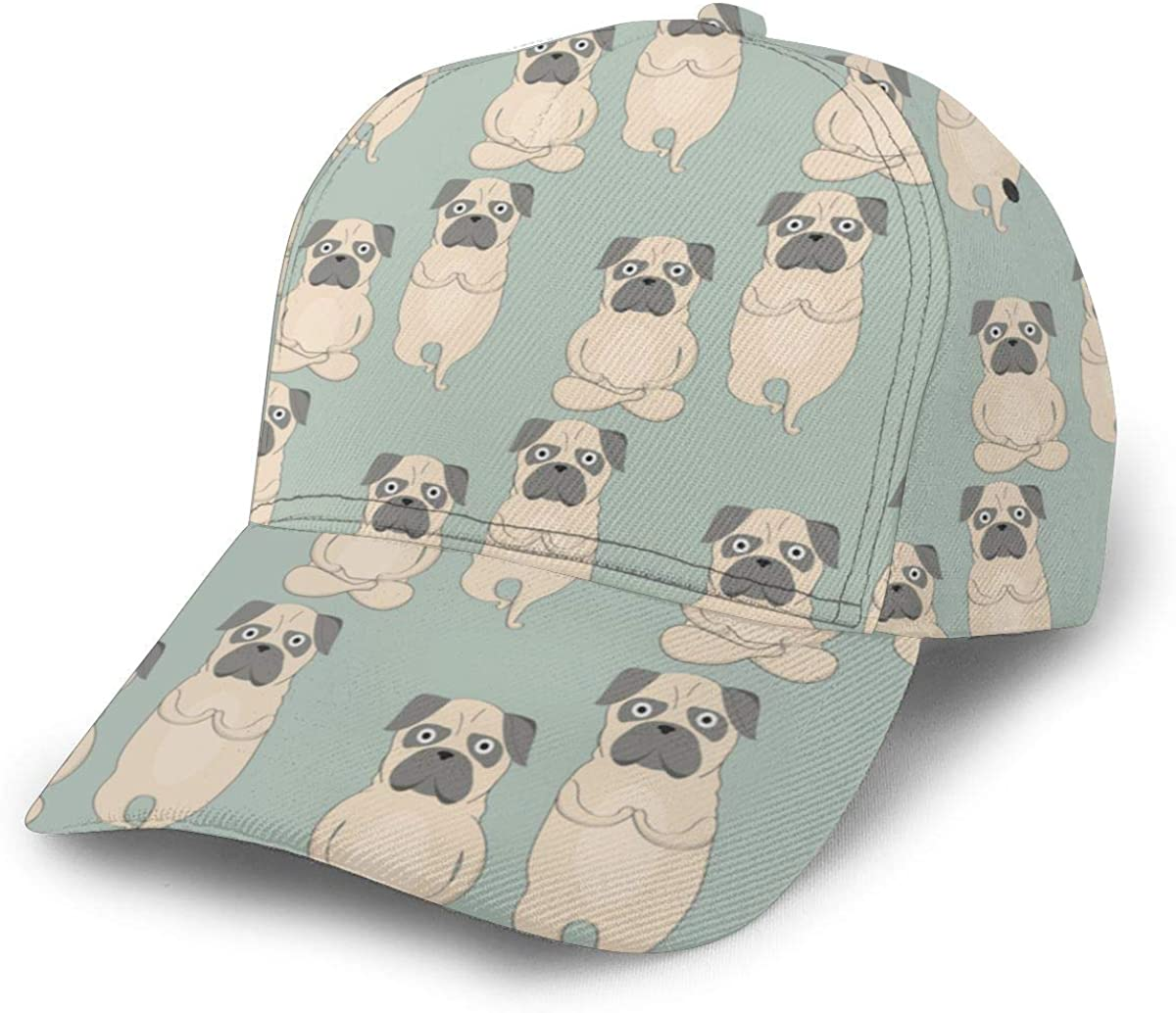 Cute Dogs Womens Classic Hip Hop Baseball Cap 100/% Cotton Unisex Soft Adjustable Size Black