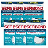 SEA-BOND Denture Adhesive Seals Uppers Original 15 ea (Pack of 6)