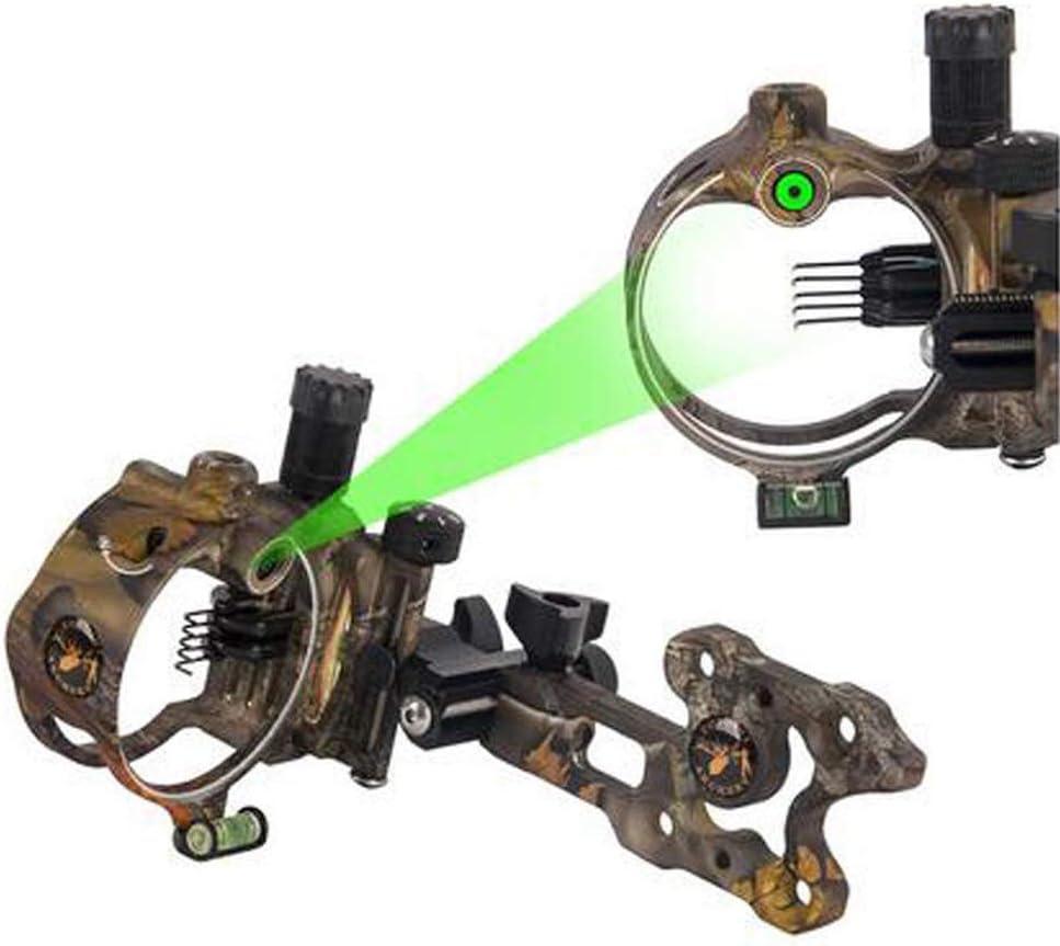 SHARROW Bow Sight Viseur darc /à Poulies 7 Pin Broches Micro Ajuster Visi/ères pour Arc Compos/é Alliage daluminium Vis/ée darc Viseur de Tir /à larc Vue darc