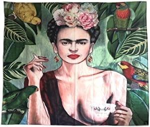 Amylucy Frida Kahlo Plant Wall Decor Tapestries, 51 x 59 Inches