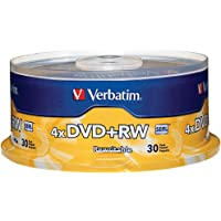 Verbatim 4.7GB 1x- 4x ReWritable Disc DVD plus RW, 30 Disc Spindle 94834
