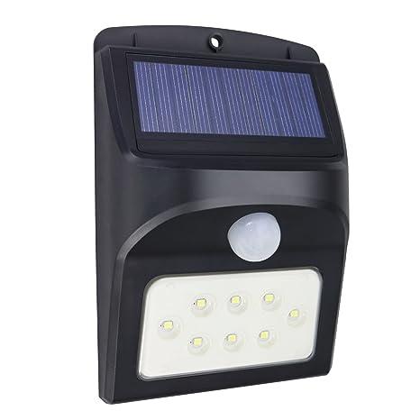 Memoru Lámpara Solares Luz LED Solar de Seguridad Impermeable con Sensor de Movimiento para Exteriores Luces