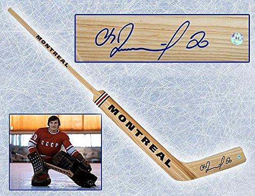 Vladislav Tretiak CCCP-Russia Autographed Wooden Montreal Brand Goalie Stick - Authentic Autographed Autograph ()