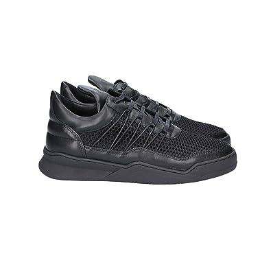 1012014n Leder Pieces Filling Schwarz Sneakers Damen SUMVqpz