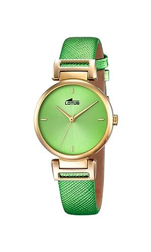 Lotus 18228/1 - Reloj de Pulsera Mujer, Cuero, Color Verde: Lotus: Amazon.es: Relojes