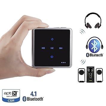 VICTORSTAR @ Transmisor y Receptor de Audio, Control Táctil Bluetooth V4.1 Adaptador,
