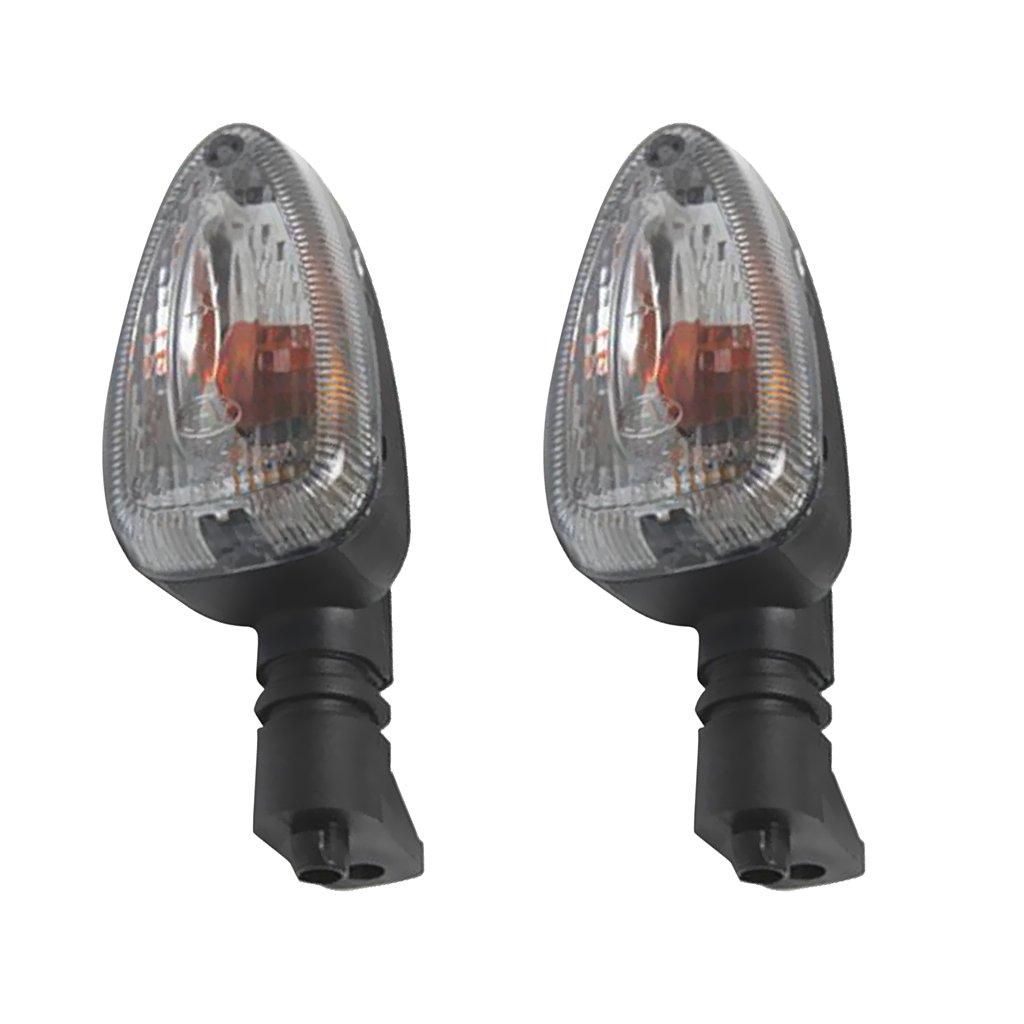 Gazechimp 2 Piezas Luces Intermitentes Se/ñales en Carretera L/ámpara Electr/ónica para Moto Veh/ículos Compatible con BMW 650 750 ahumado
