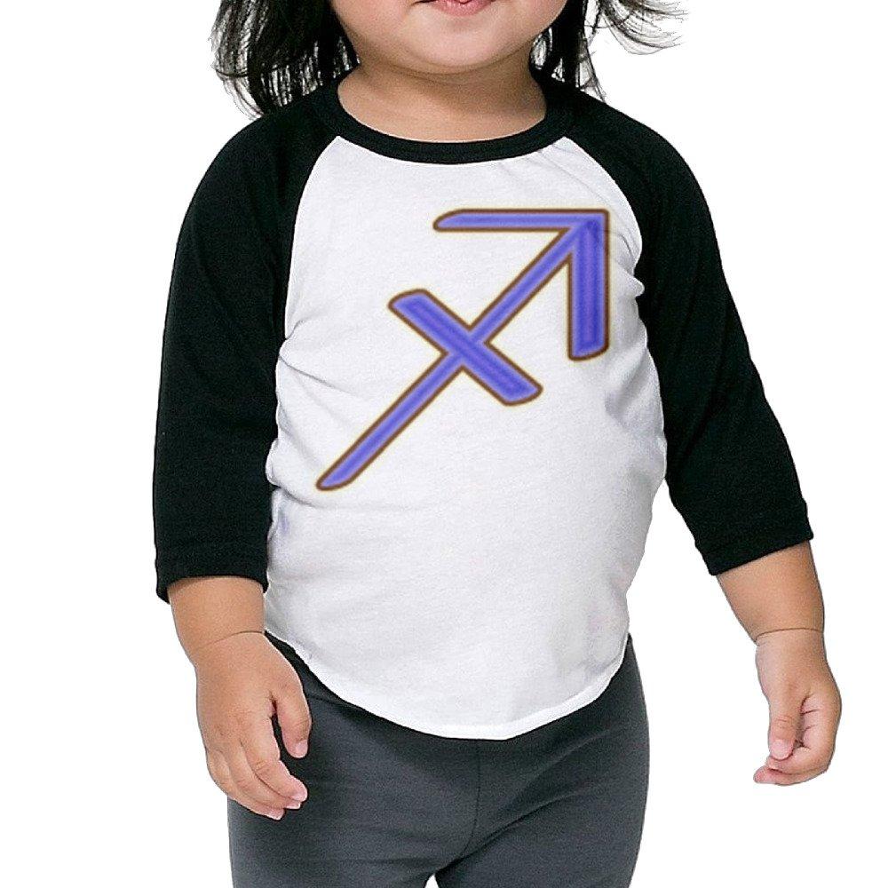 Kim Lennon Sagittarius The Archer Unisex Round Collar Raglan Shirt Black