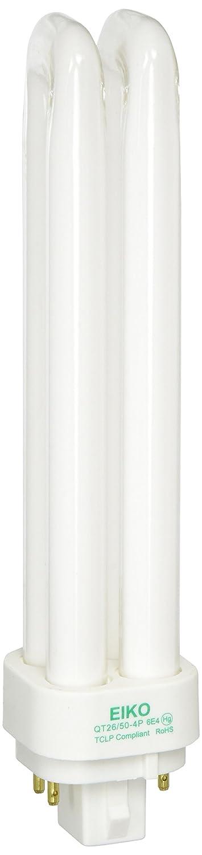 Eiko QT26 50 4P 26W Quad Tube 5000K G24q3 4 Pin Base Fluorescent Halogen Bulbs