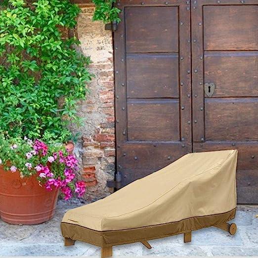 xuanyang524 Beige Chaise Lounge Cover Recliner Cover Accesorios para terraza Jardín Patio useful: Amazon.es: Hogar