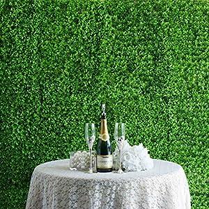 BalsaCircle 4 pcs Lime Green Artificial Grass Greenery Foliage UV Protected Wall Backdrop Panels Decorations Supplies 10