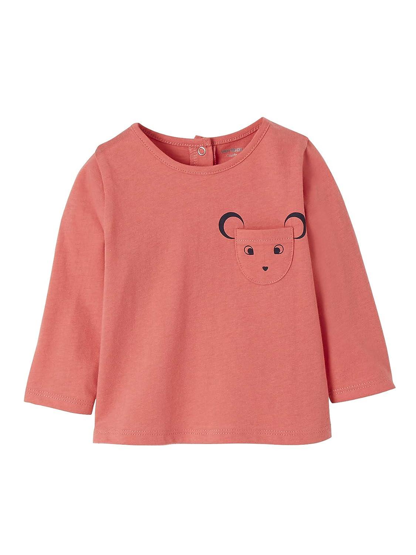 VERTBAUDET Camiseta beb/é ni/ña de Manga Larga
